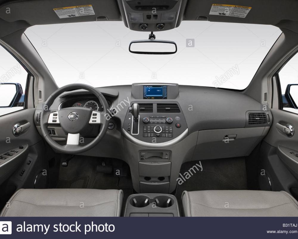 2008 Nissan Quest 3.5 SE in Blue - Dashboard, center console, gear ...