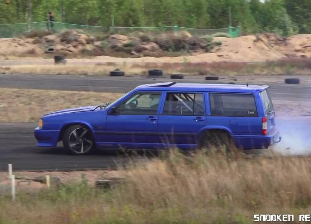 volvo 740 wagon drift | grassrots track - YouTube