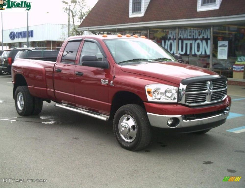 2008 Inferno Red Crystal Pearl Dodge Ram 3500 Big Horn Edition ...