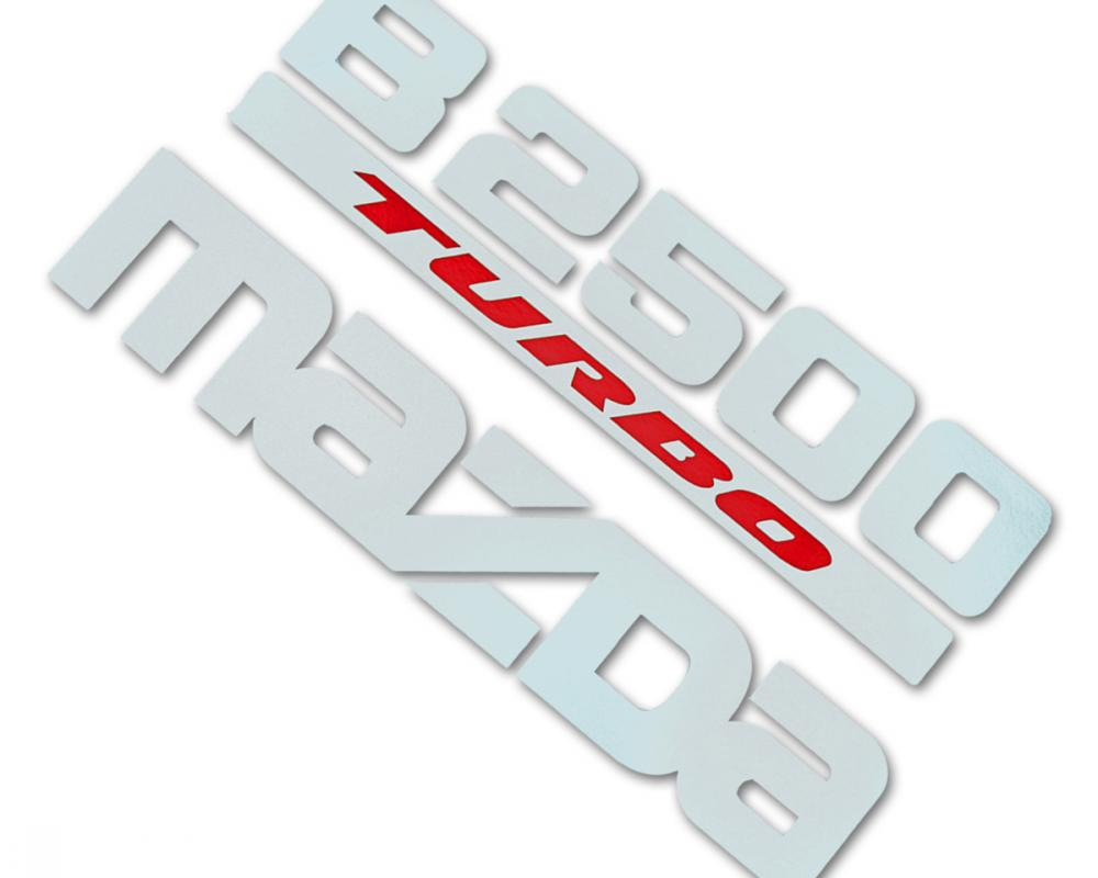 For Mazda B2500 Fighter 1998 00 04 06 Sticker B2500 TURBO MAZDA ...