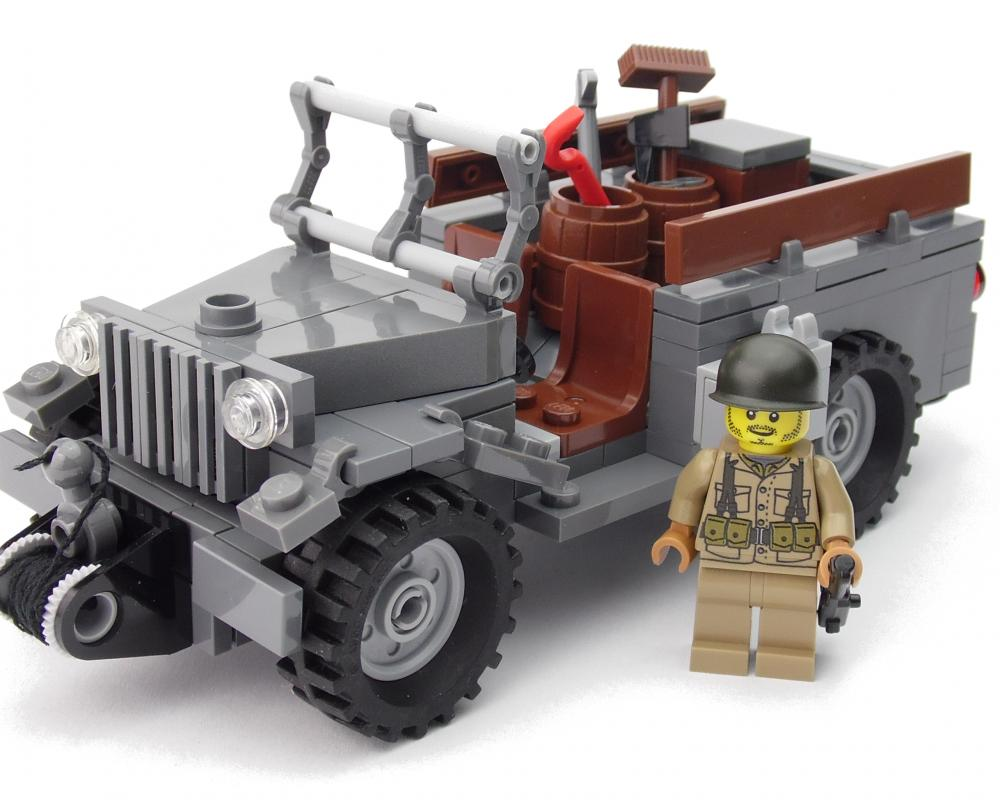 US Jeep Dodge WC 51 | Custom Militär Sets aus Bausteinen | Figuren ...
