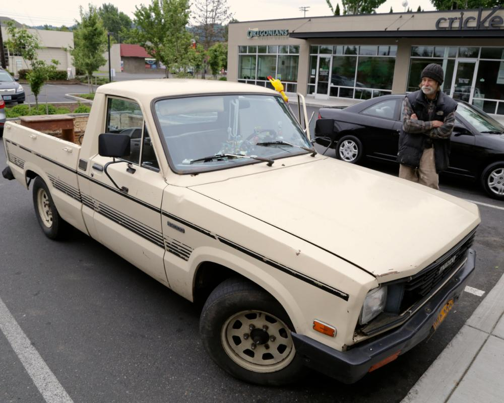 OLD PARKED CARS.: 1984 Mazda B2000 SE-5.