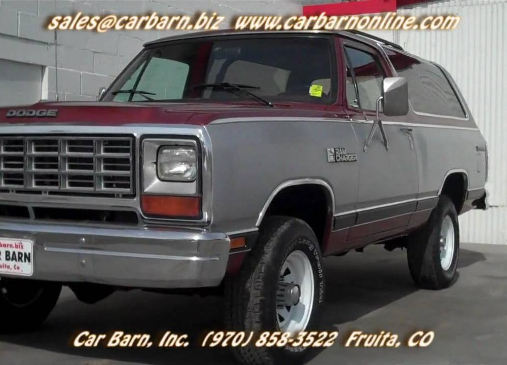 SOLD!- 1985 Dodge Ram Charger Prospector 4x4 at Car Barn in Fruita ...