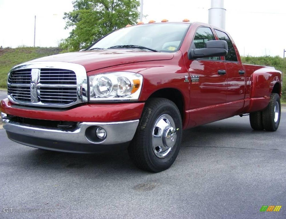 2009 Inferno Red Crystal Pearl Dodge Ram 3500 Big Horn Edition ...