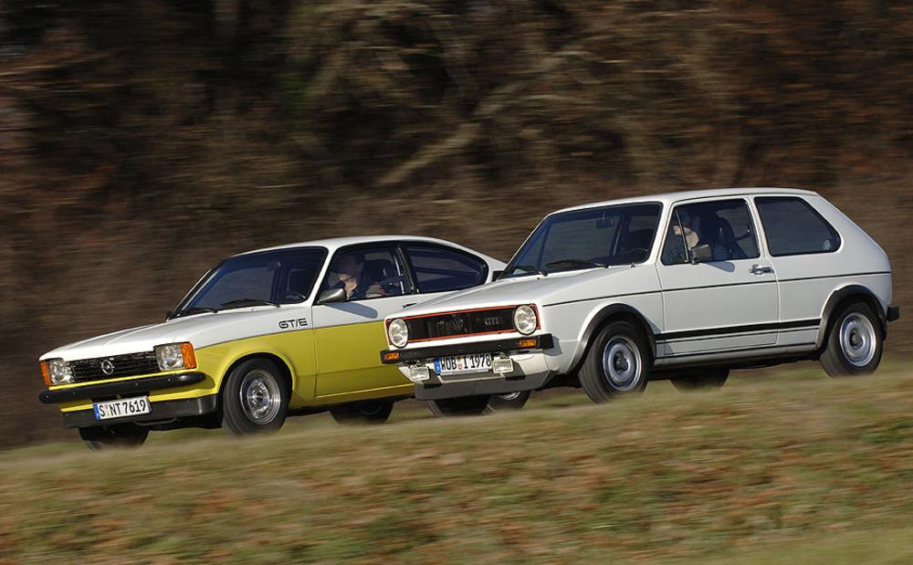Opel Kadett C GT-E und VW Golf I GTI: Hatch me if you can - auto ...
