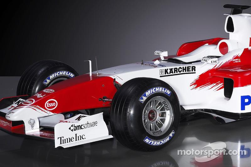 Detail of the new Toyota TF105 at Toyota TF105 launch, Barcelona ...