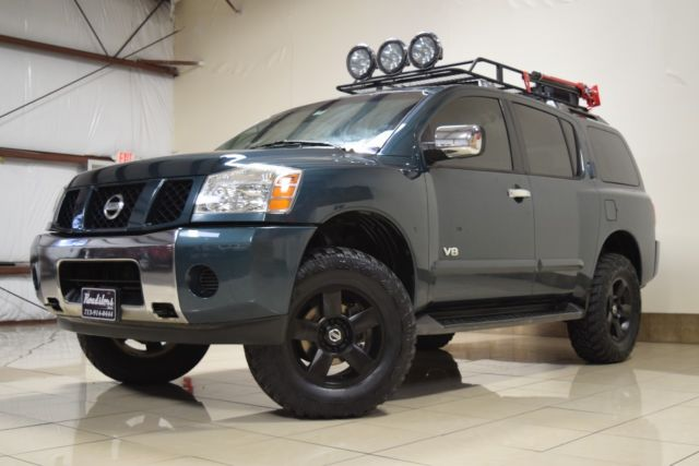 UNIQUE NISSAN ARMADA SE 4X4 LIFTED TOW ROOF BSKT DRIVING LIGHTS CD ...