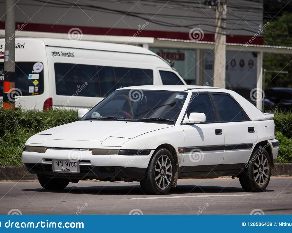 Private Old Car Mazda 323 Astina Editorial Stock Image - Image of ...