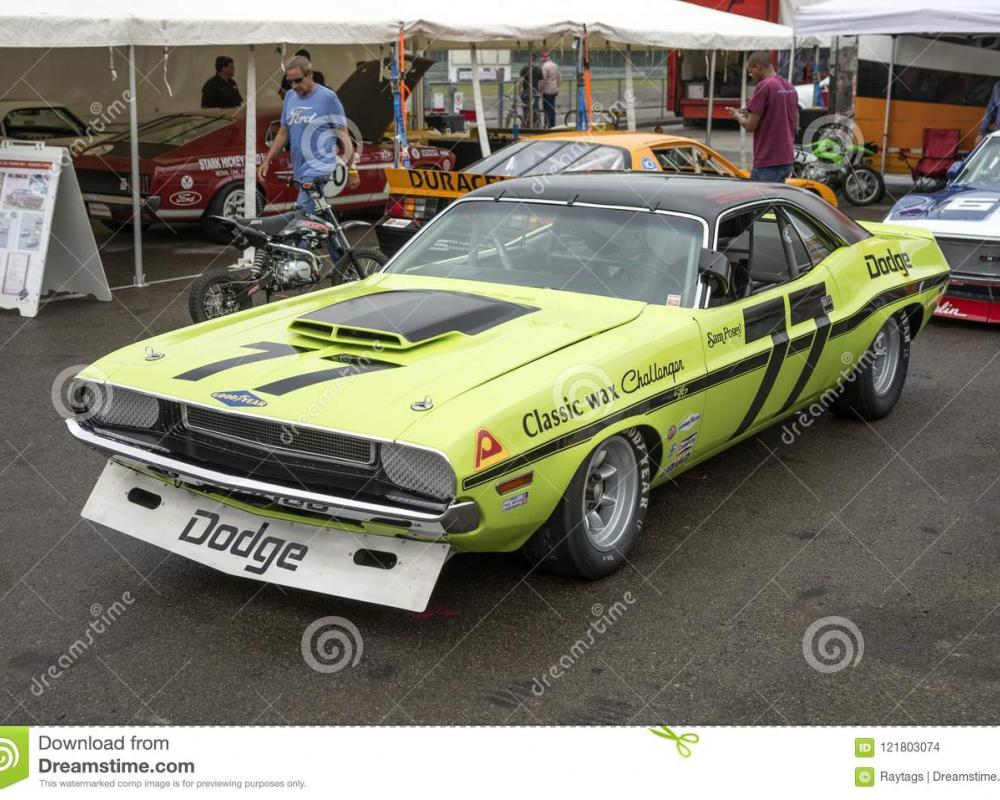 Dodge Challenger Trans Am Race Car Editorial Stock Image - Image ...