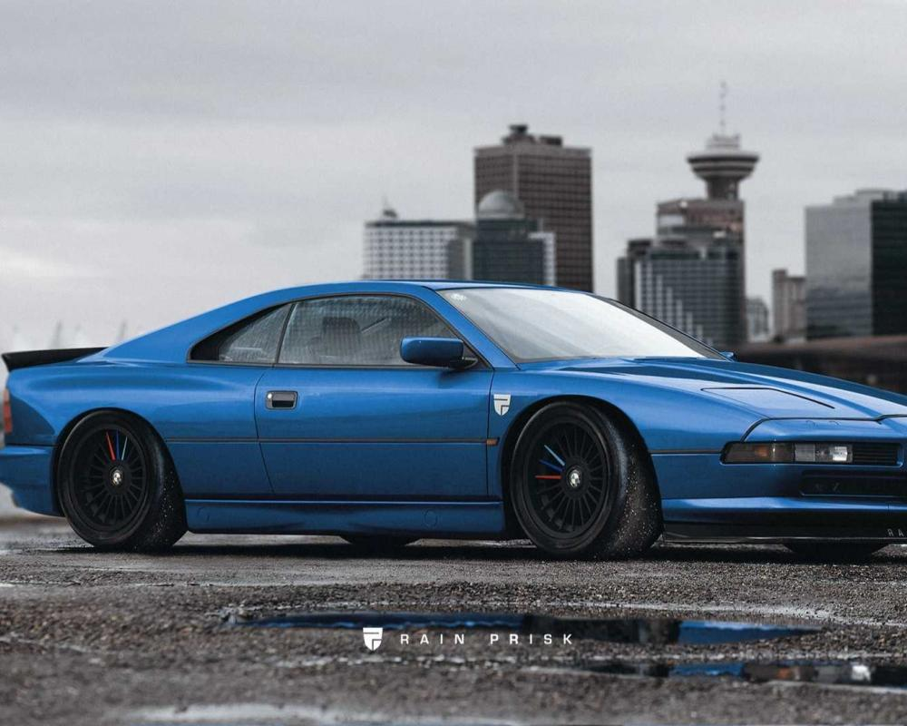 Classic BMW 8 Series Rendered As A 1990's Ferrari Fighter