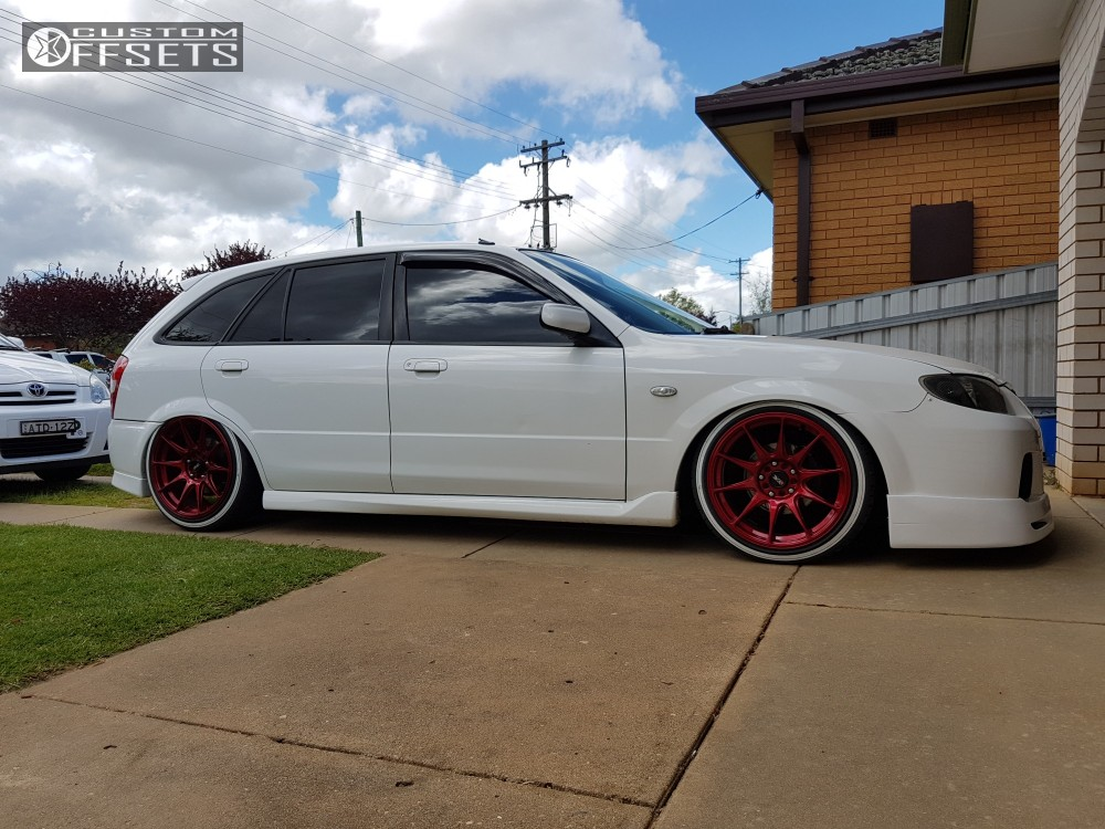 Wheel Offset 2003 Mazda Protege5 Tucked Air Suspension | Custom ...