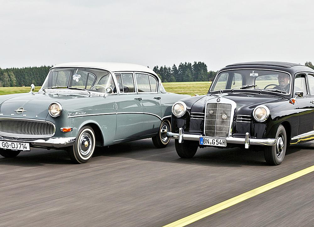 Mercedes 180 Ponton/Opel Olympia Rekord: Classic Cars |