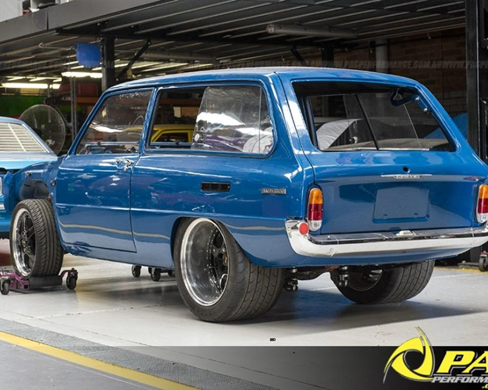 UNDER CONSTRUCTION - TUBBED 1300 WAGON. Pac Performance Racing