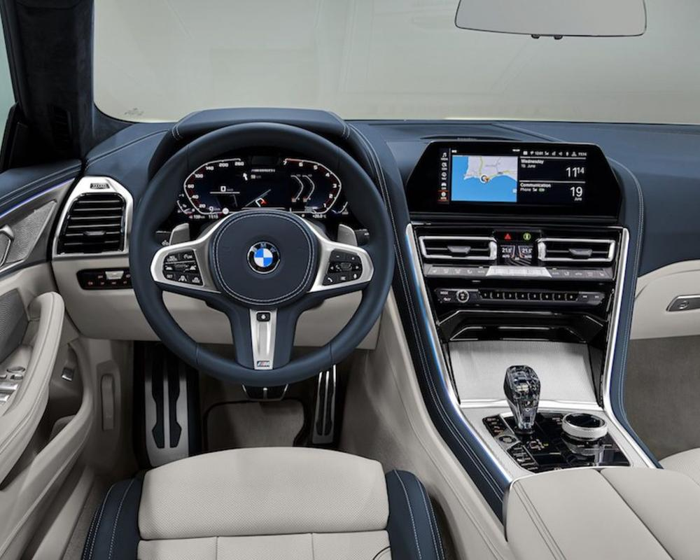 Interior of the BMW 8 Series Gran Coupe was leaked also