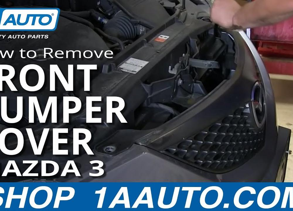 How To Remove Front Bumper Cover 03-09 Mazda 3 - YouTube