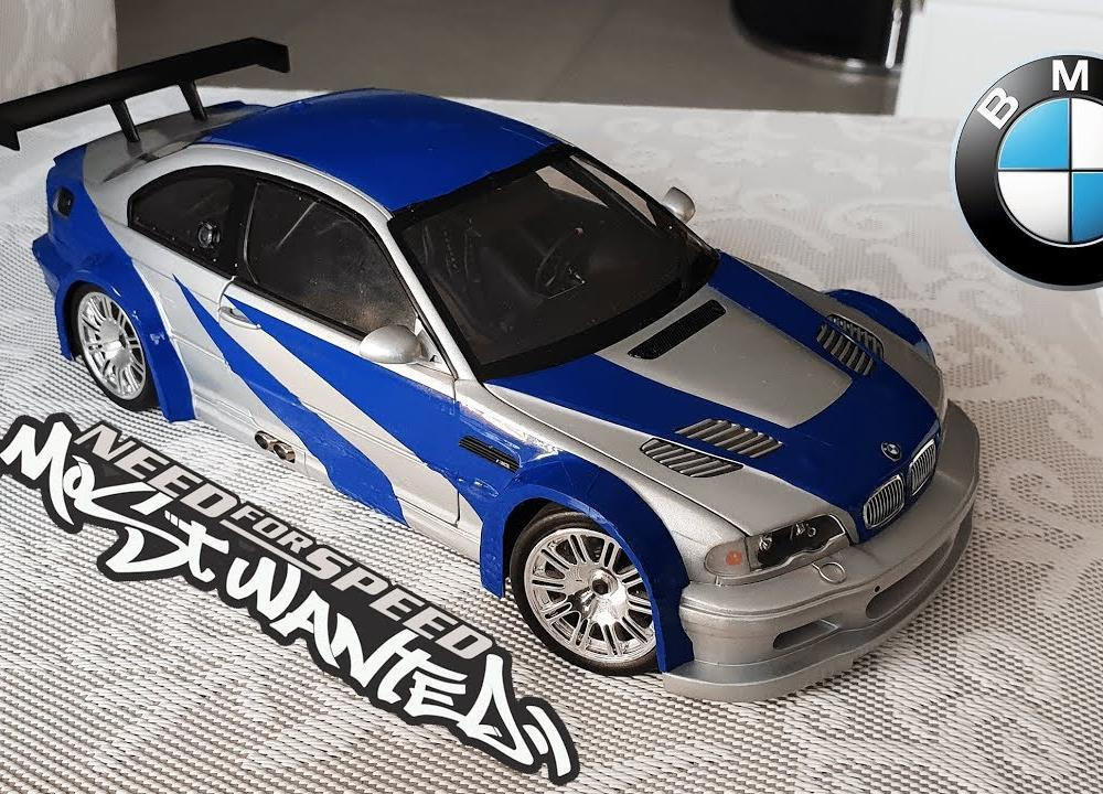 BMW M3 GTR 1/18 Miniature Need For Speed Most Wanted Build - YouTube