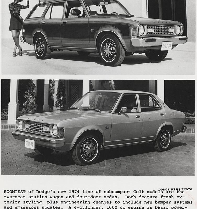 Top: Dodge Colt (station wagon)- 1974. Bottom: Dodge Colt (4 door ...
