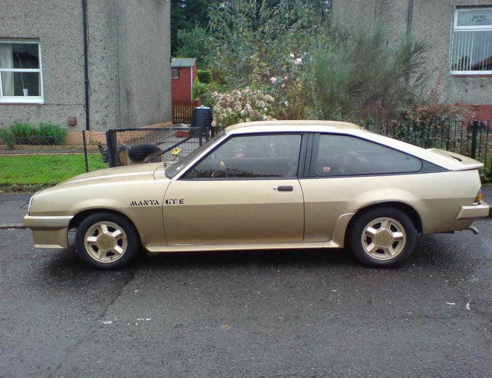 Opel Manta ok this is a gte mine was a gtj not sure what the ...