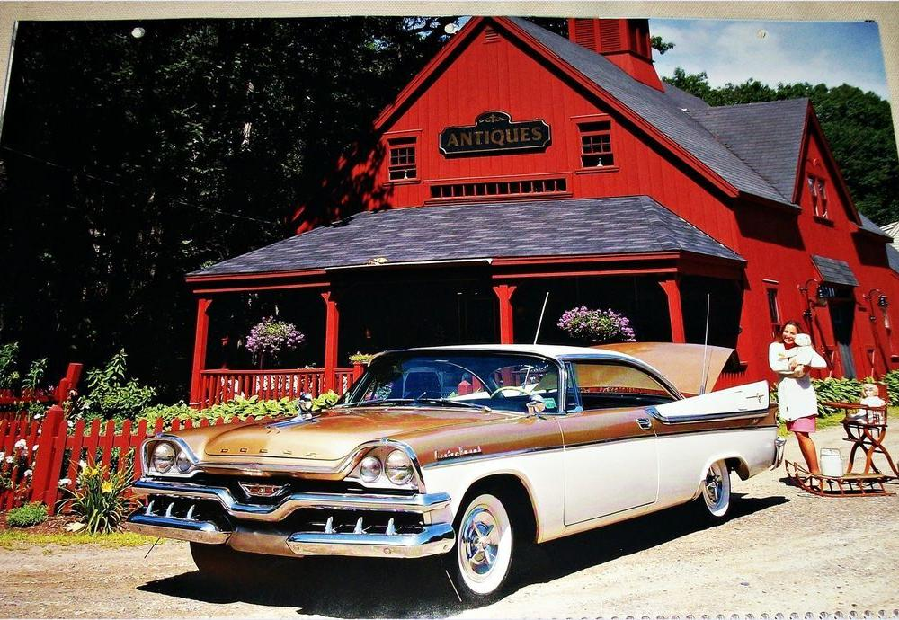 1957 Dodge Custom Royal Lancer 2 Dr HT Car Print on PopScreen