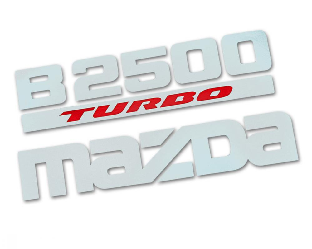 Fits Mazda B2500 Fighter 1998 00 04 06 Sticker B2500 TURBO MAZDA ...