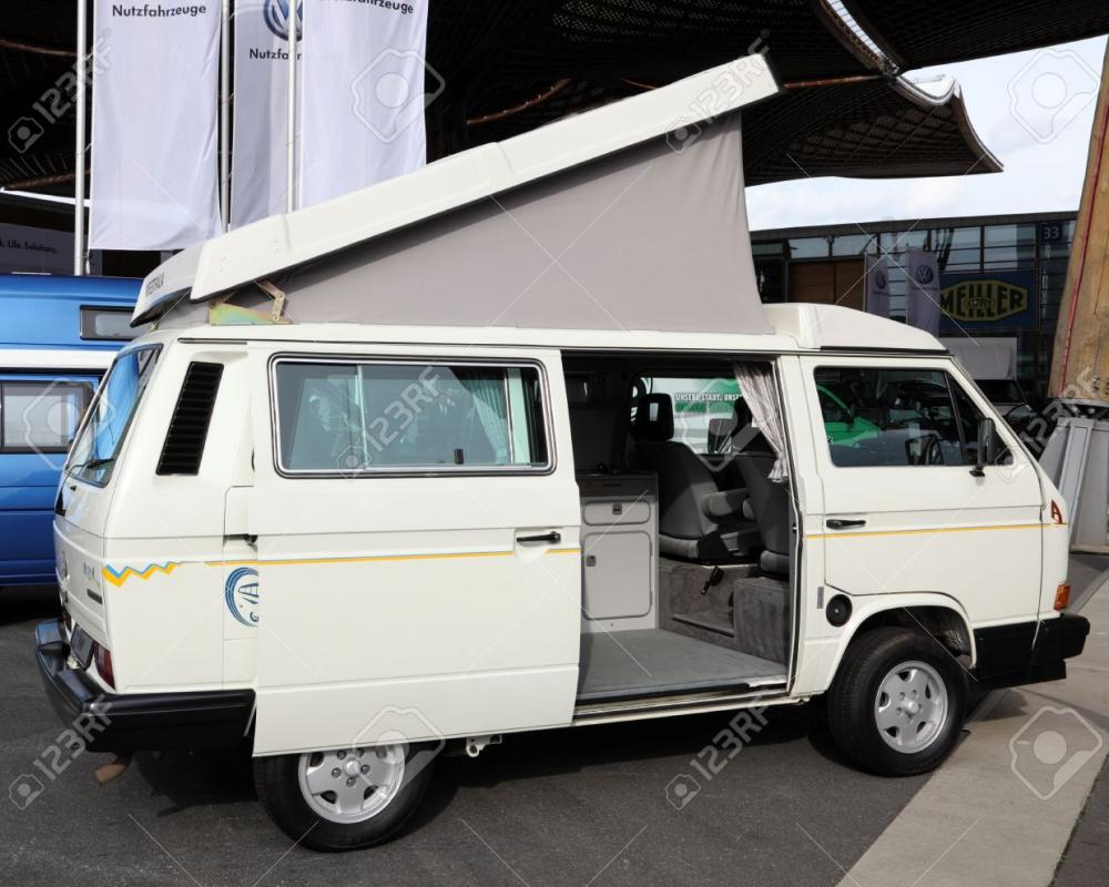 HANNOVER - SEP 20: Volkswagen T3 Westfalia Multivan Camper From ...