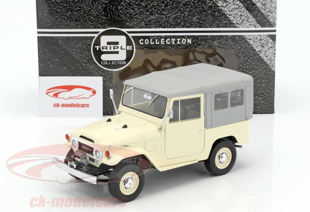 Triple9 1:18 Toyota Land Cruiser FJ40 year 1967 beige / Gray T9 ...