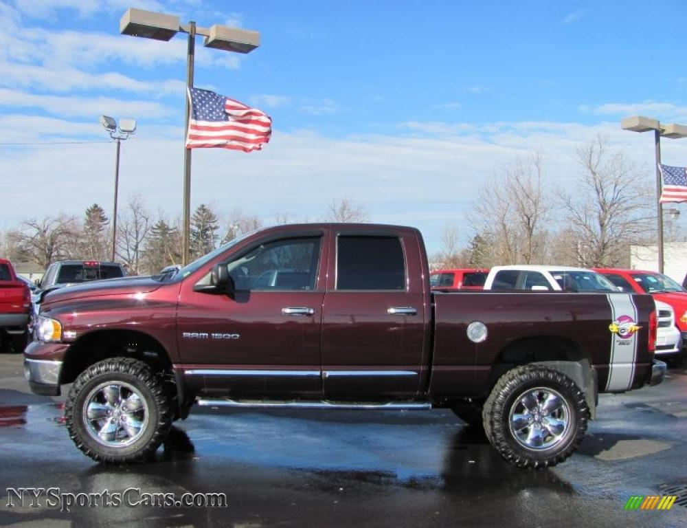 2005 Dodge Ram 1500 SLT Rumble Bee Quad Cab 4x4 in Deep Molten Red ...