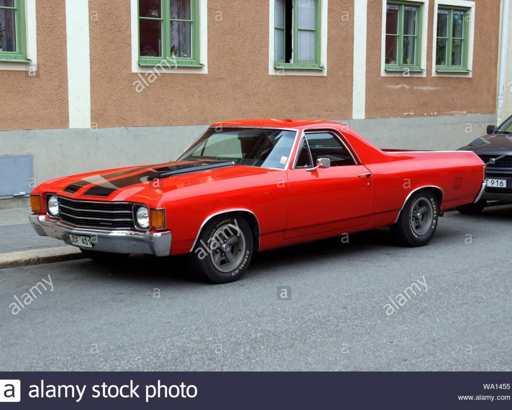 Vimmerby, Sweden - August 1, 2019: Chevrolet El Camino SS Tribute ...