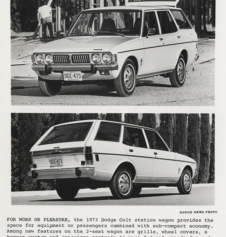 Dodge Colt, station wagon- 1973 - Digital Collections - Free Library