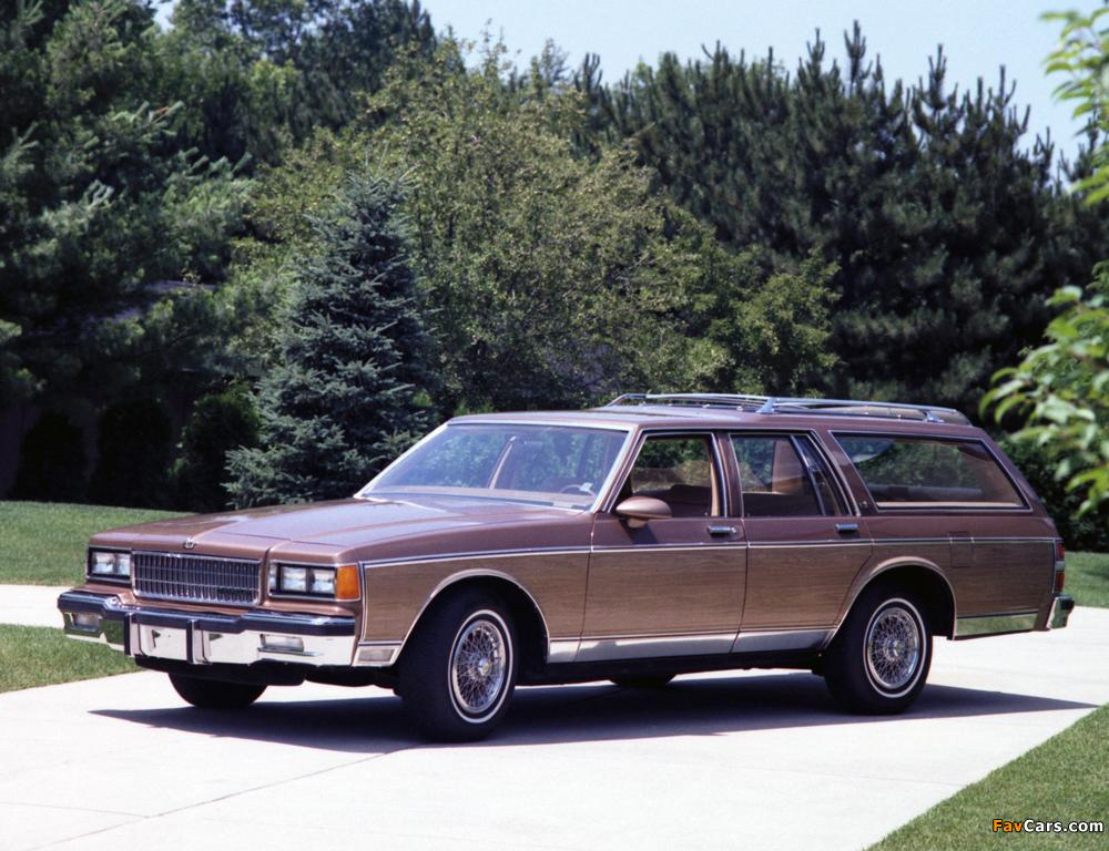 Pictures of Chevrolet Caprice Estate Wagon 1986 (1024x768)
