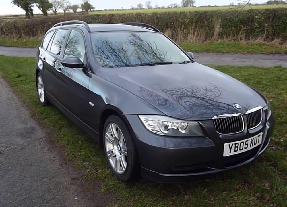 BMW 320d touring E91 / E90 review - YouTube