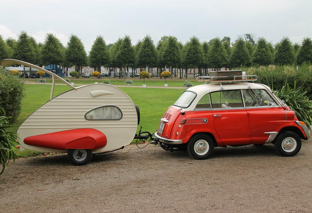 BMW 600 (1958) and caravan ES Piccolo (1954) | Steff | Flickr