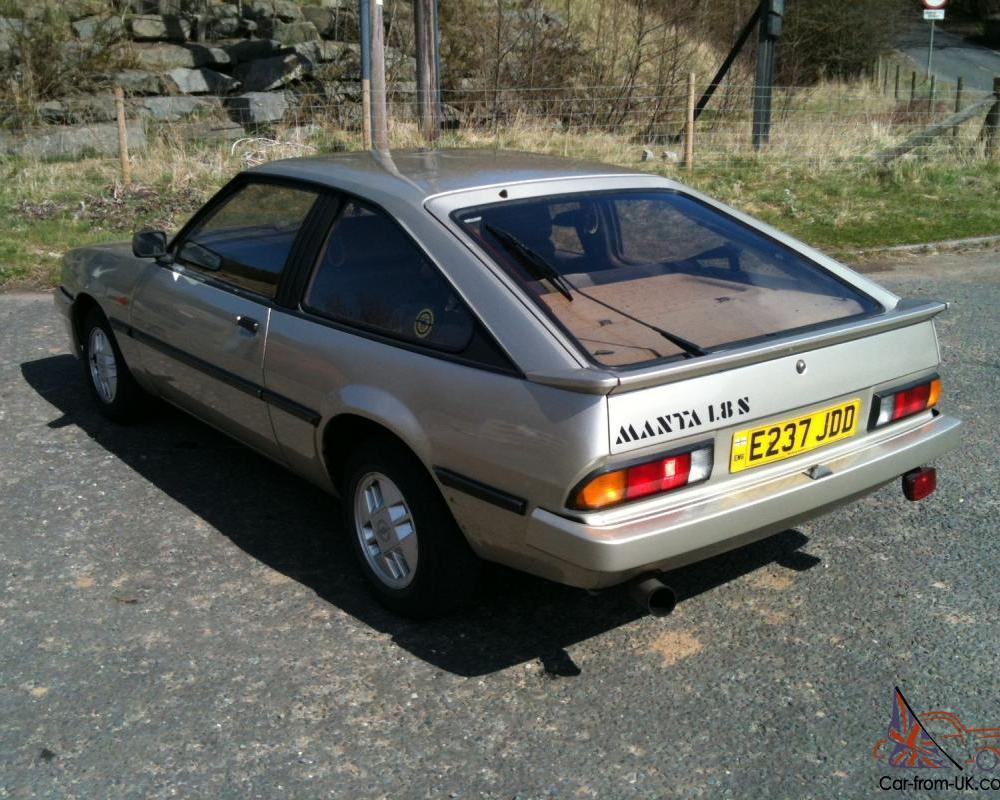opel manta berlinetta 1.8s good condition tax and test