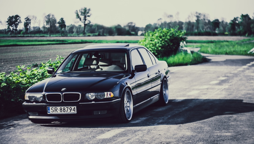 stance, bmw, boomer, e38, bimmer, bmw, 740ia, black wallpaper and ...