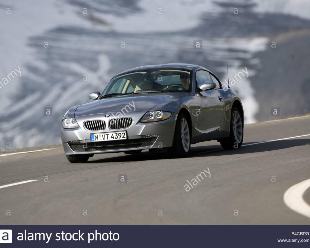 BMW Z4 3.0si Coupe, model year 2006-, anthracite, driving ...