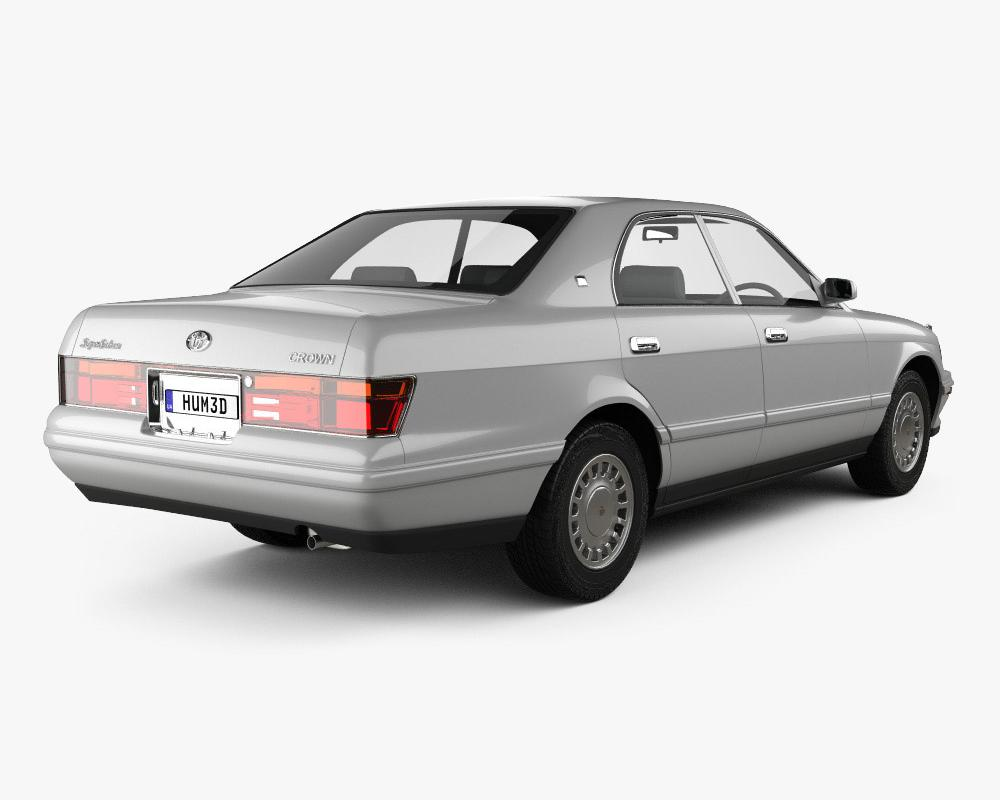Toyota Crown 1993 3D model - Vehicles on Hum3D