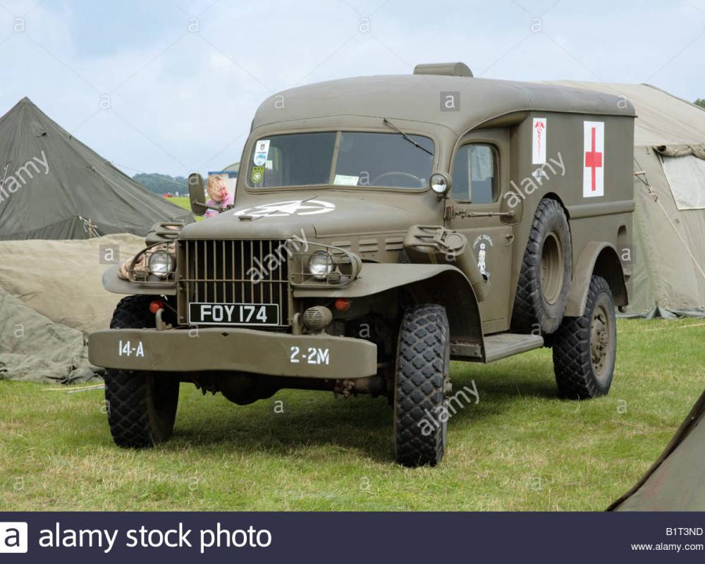 Dodge WC54 WWII 4x4 army military ambulance Stock Photo: 18354825 ...