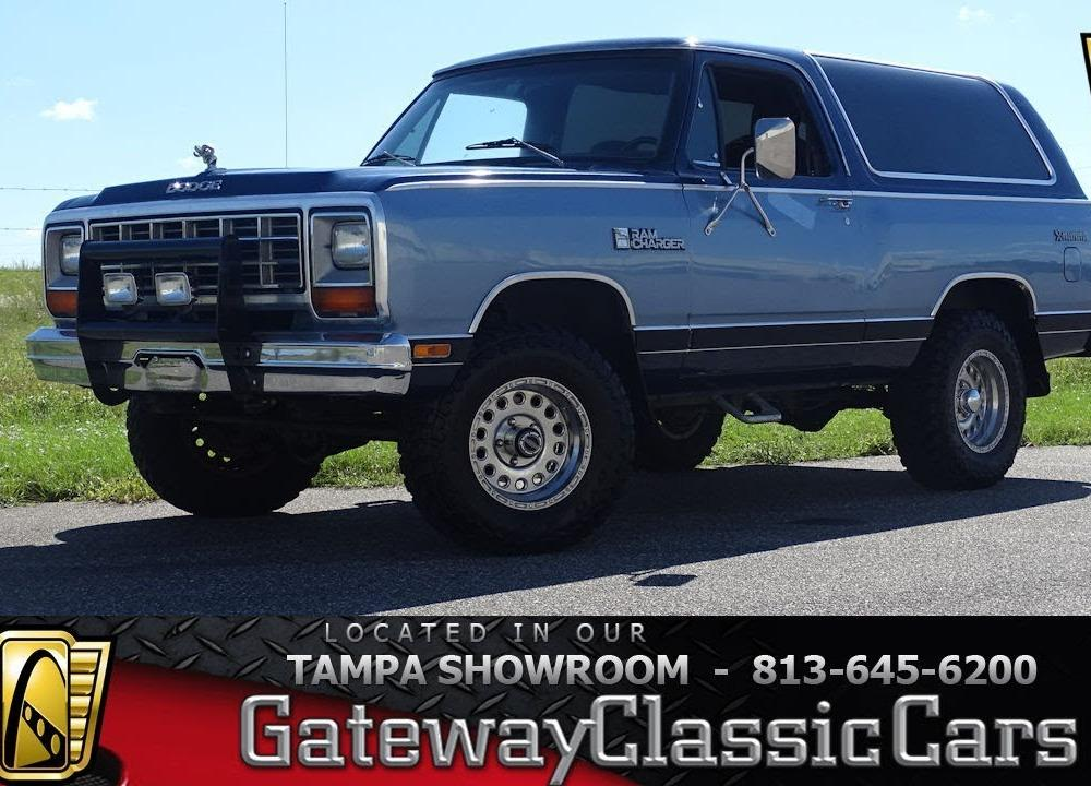 1984 Dodge Ram Charger AW 100 - Stock #1339-TPA - YouTube