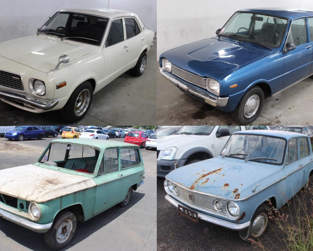 For Sale: Classic Mazdas up for auction; 808, Familia, 800, 1000 ...