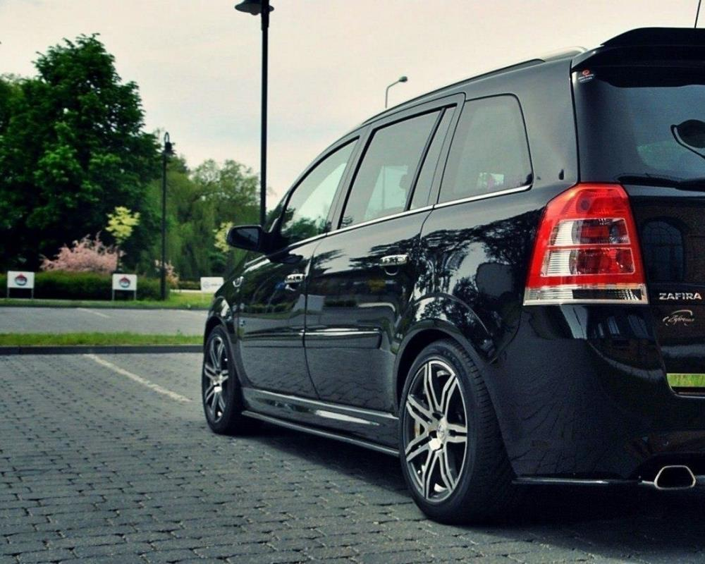 SIDE SKIRTS DIFFUSERS OPEL ZAFIRA B OPC Textured | Our Offer ...