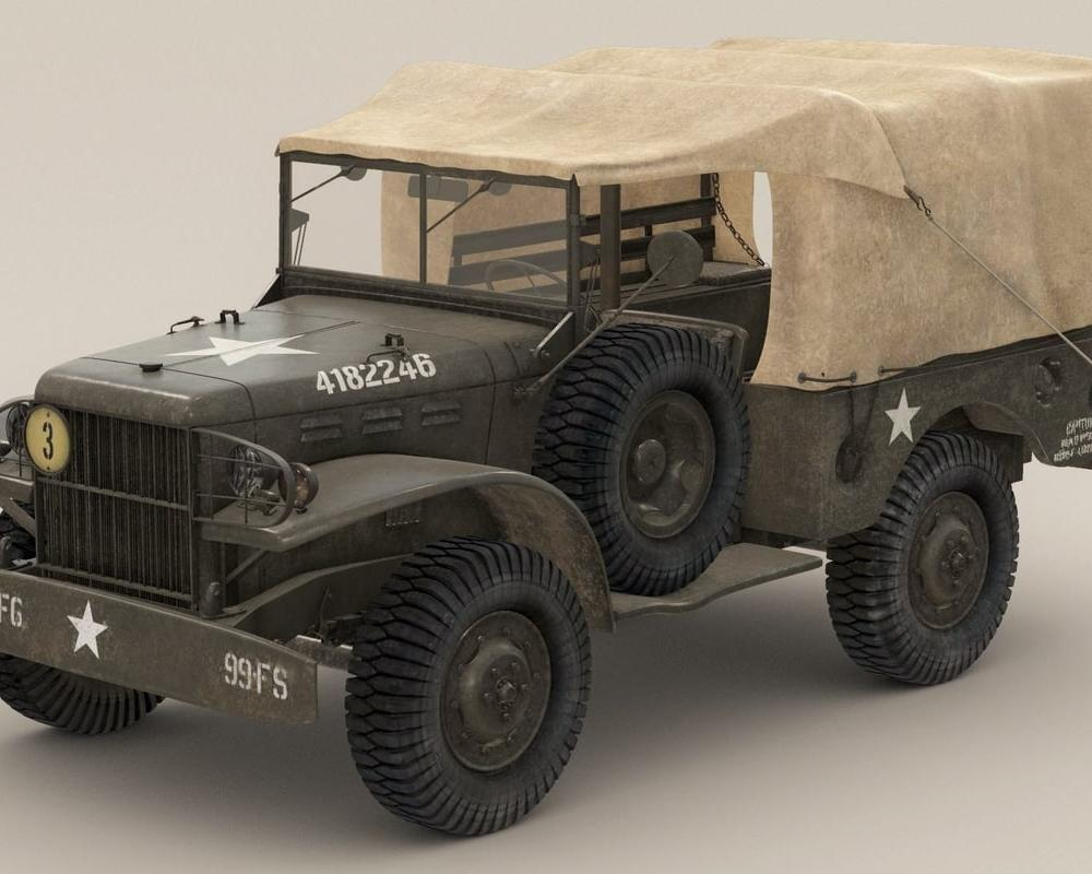 US Army Dodge WC-51 3D-Modell - TurboSquid 942388
