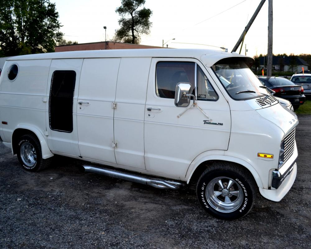 A 1975 Dodge Tradesman 200 van with a built 1972 340 engine with ...