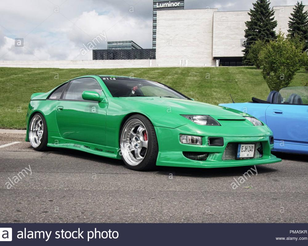 VILNIUS, LITHUANIA-AUGUST 26, 2018: Green Nissan 300 ZX Z 32 at ...