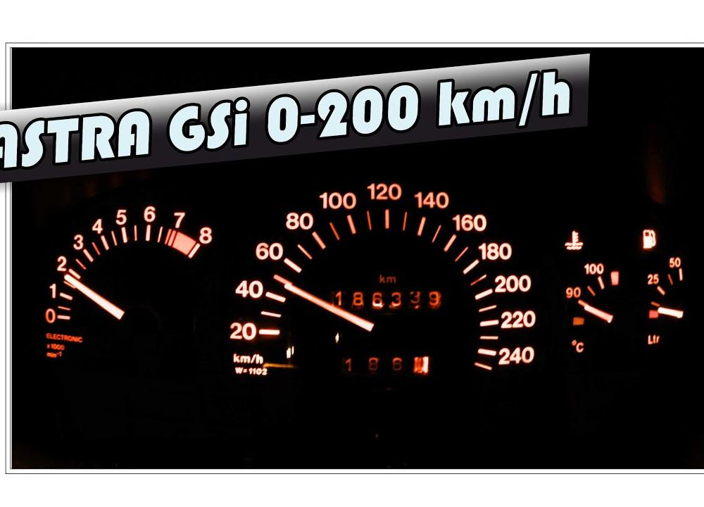Opel Astra 2.0 16v GSI 0-100 km/h, 0-200 km/h acceleration after ...