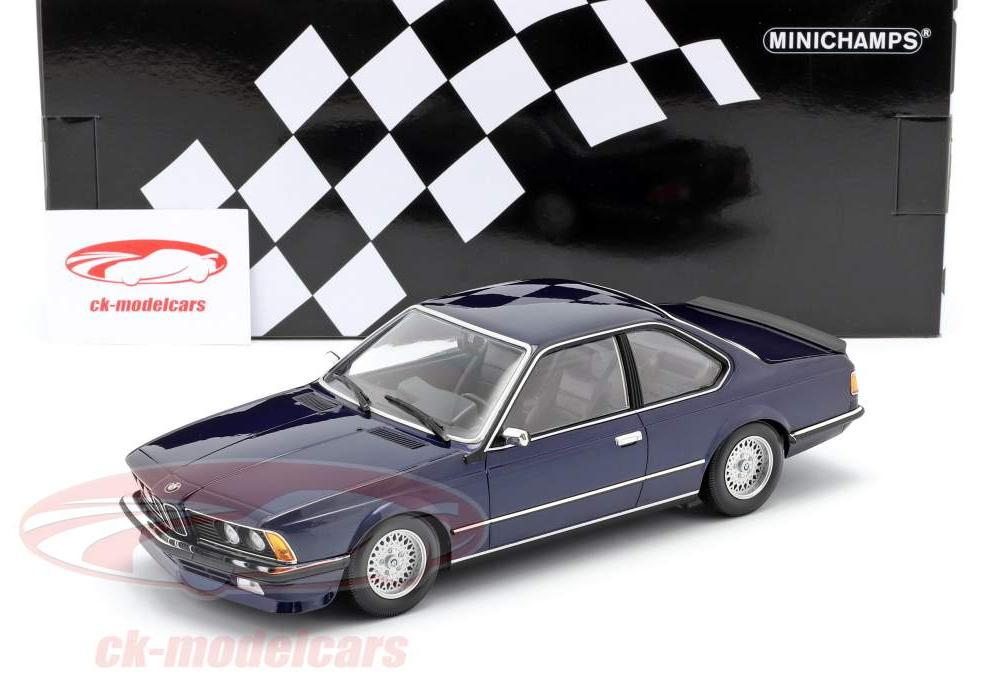Minichamps 1:18 BMW 635 CSi (E24) year 1982 dark blue metallic ...
