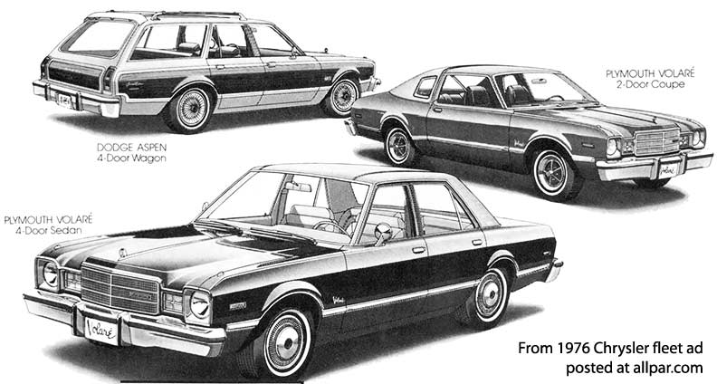 Plymouth Volare and Dodge Aspen including Super Coupe cars and ...