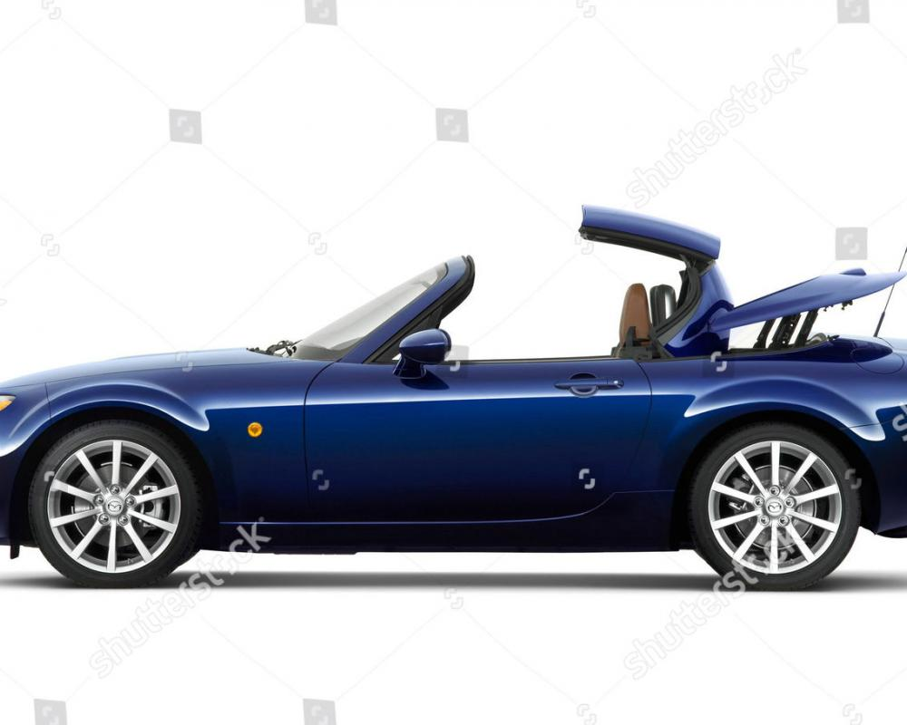 Mazda MX5 Roadster Coupe power retractable hard Editorial Stock ...